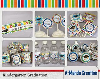 Kindergarten Graduation Party Printables and a Freebie!