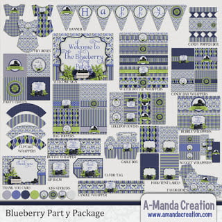 Blueberry Party Printables