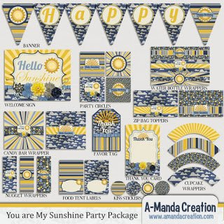 You are my Sunshine Party Printables
