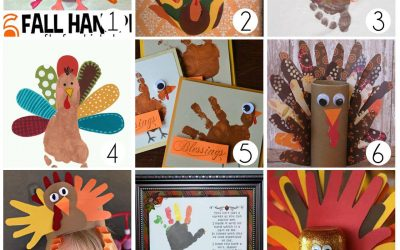 Fun Turkey Hand Print Crafts