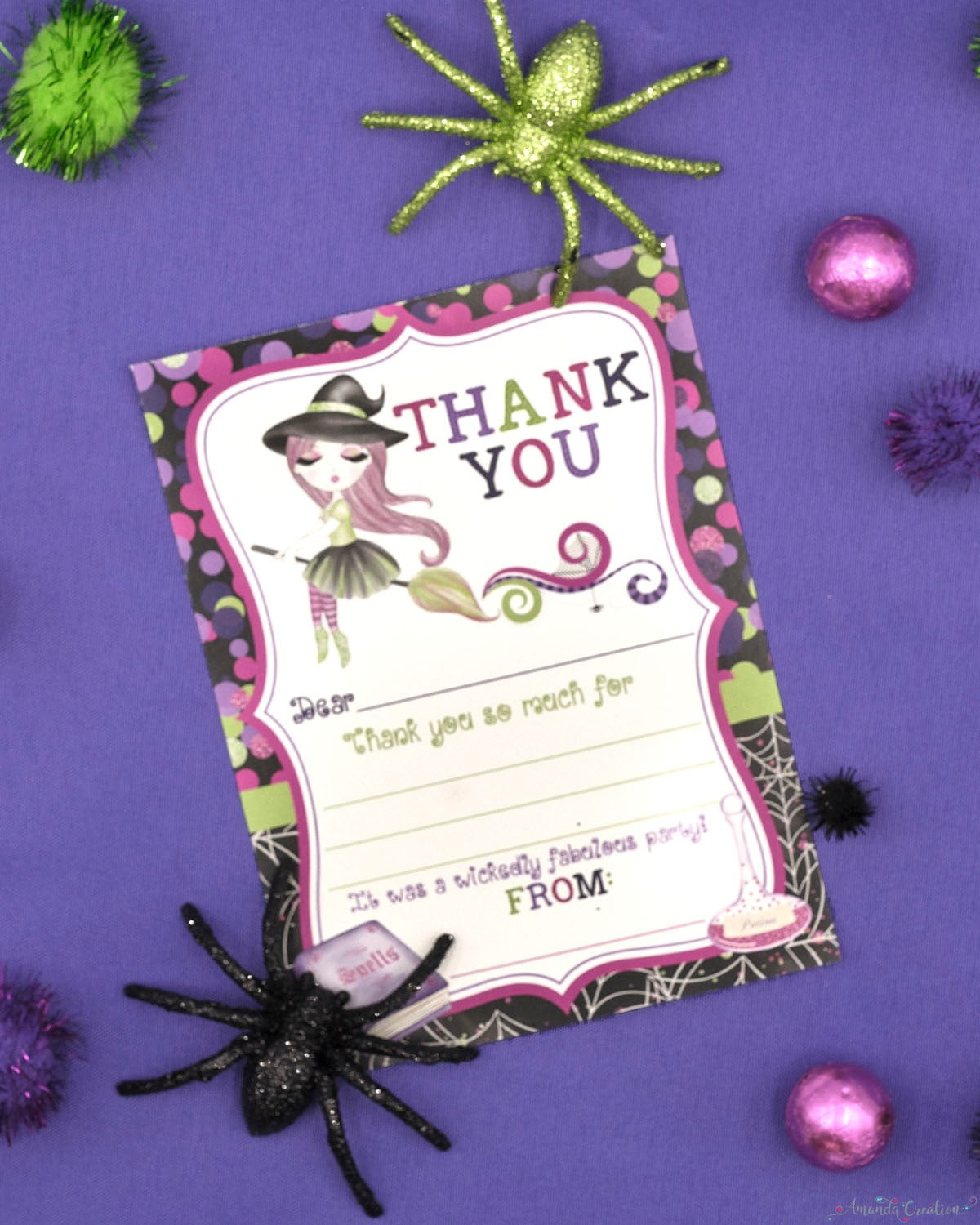 witch thank you cards