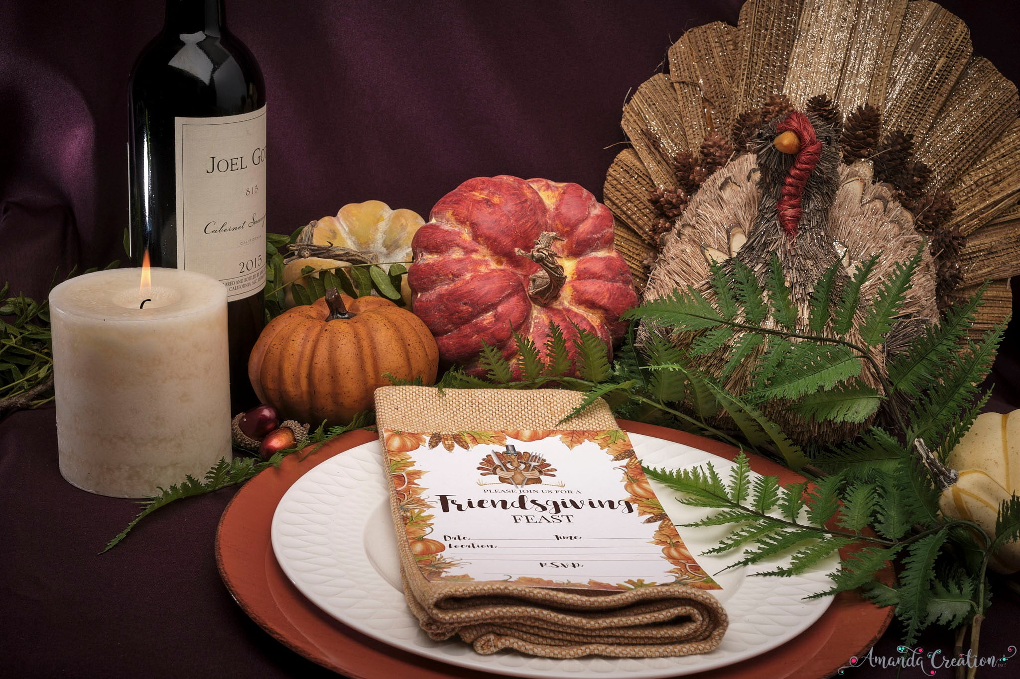 friendsgiving party invitations