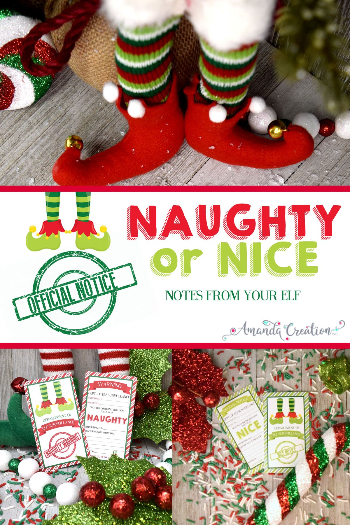 naughty or nice notes from your elf