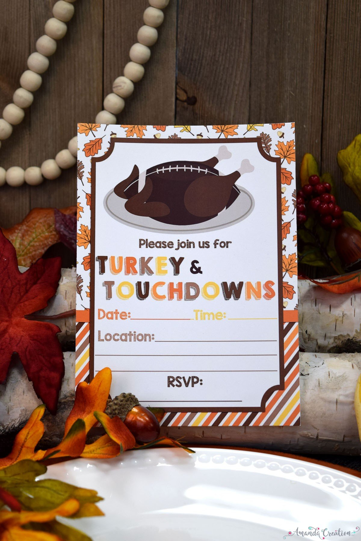 turkey & touchdowns