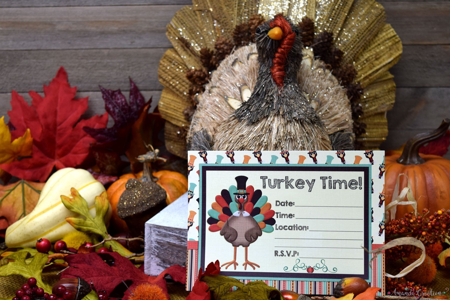 turkey time invitation