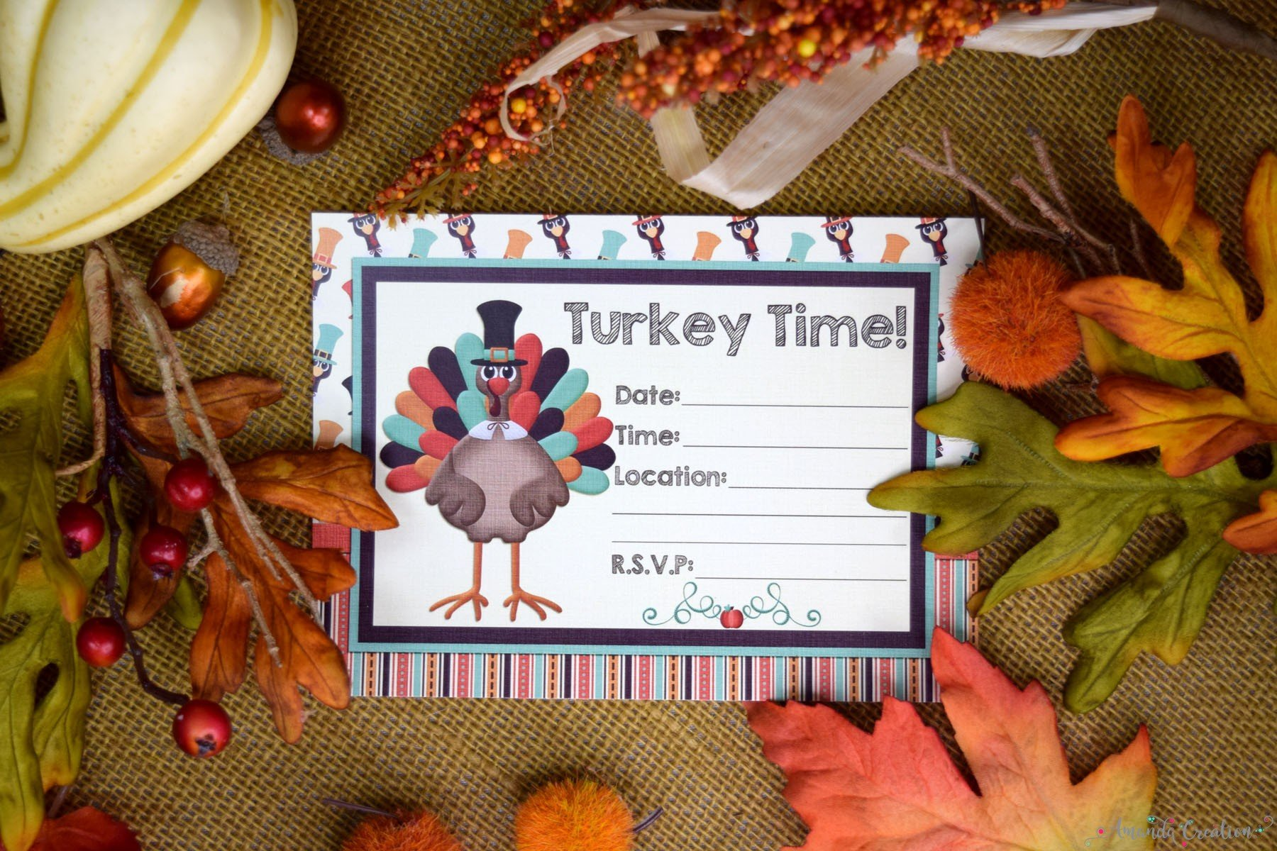 turkey time invite