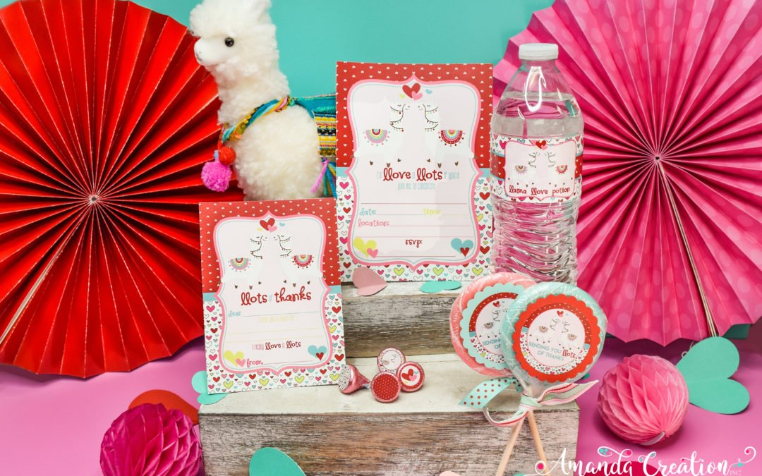 Fall in Love With This Llama Valentine Birthday Party