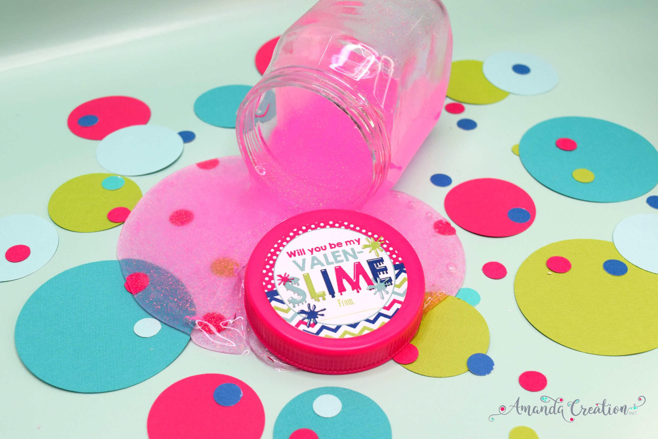 Slime Valentine's Day Sticker