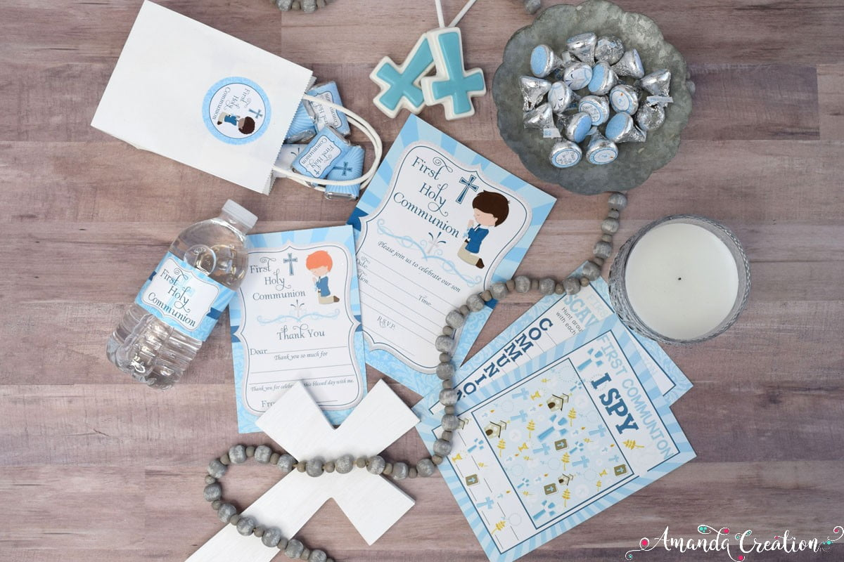 Boy First Communion Party Supplies