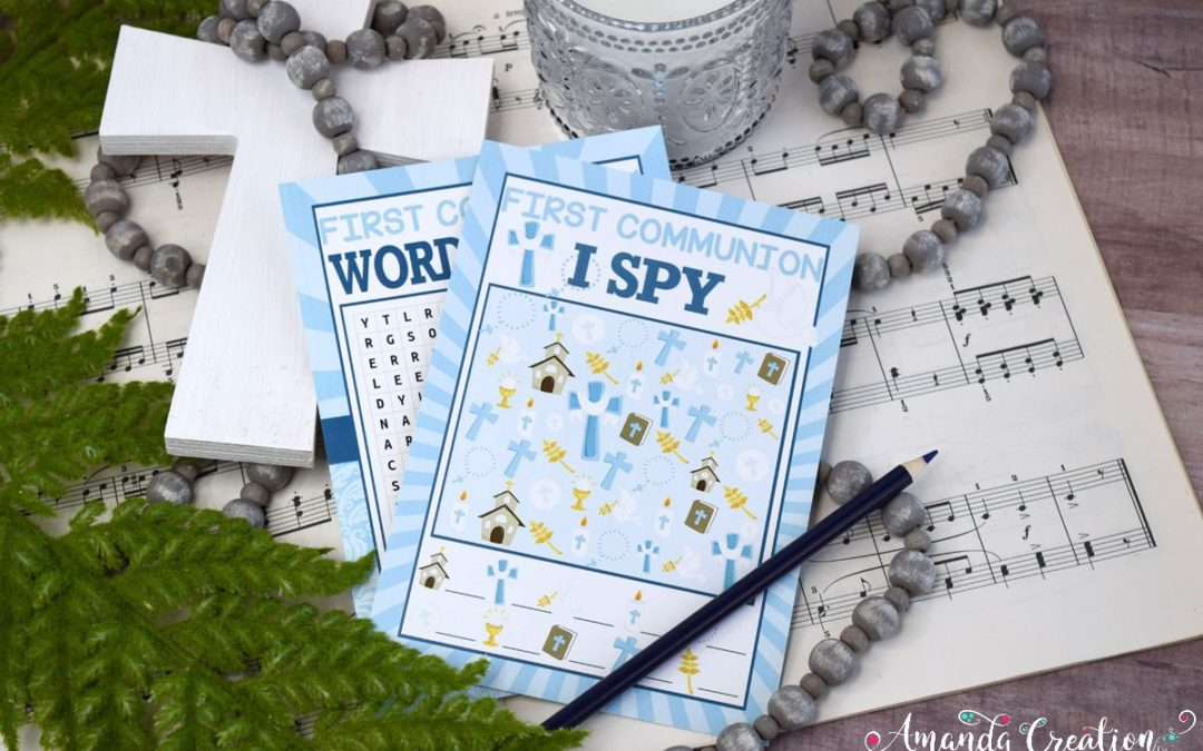 First Communion Games and Prayer Cards Create Joy
