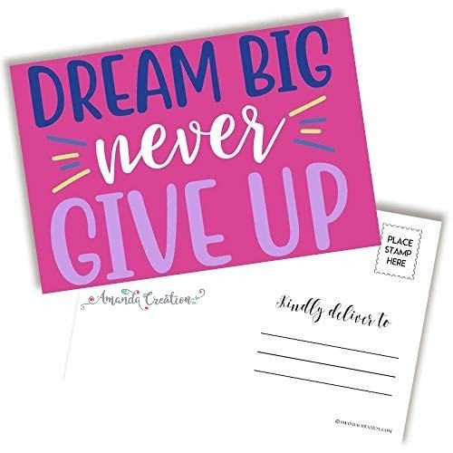 Dream Big Enocouragement Postcard