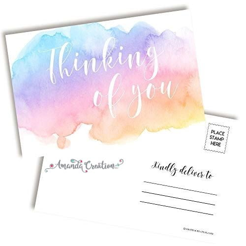 Thinking of You Pastel Postcard