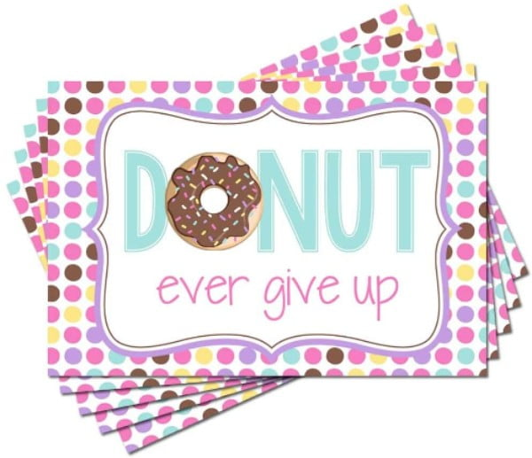 Donut Encouragement Postcards