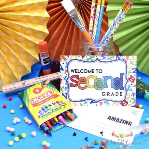 Welcome to Second Grade Back to School Teacher Postcards