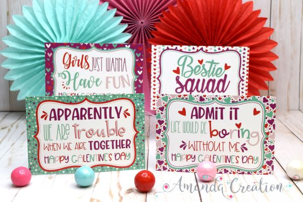 Galentine Day Postcards