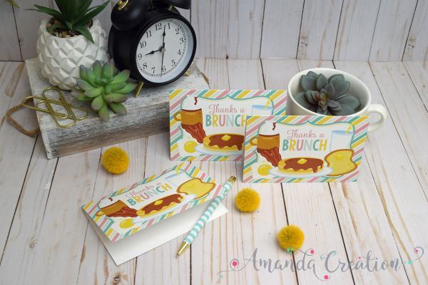 Animal & Food Thank You Cards