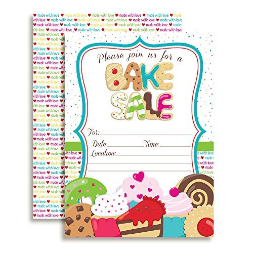 Bake Sale Party Invitations