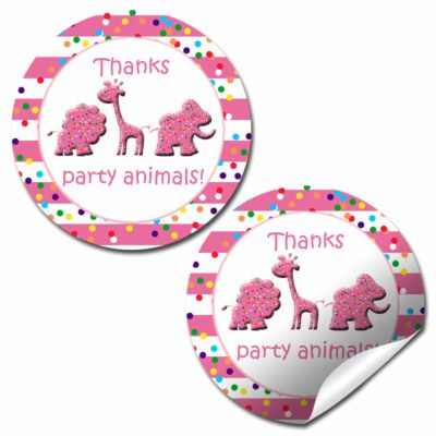 Animal Cookies & Crackers, Circus Birthday Party Stickers