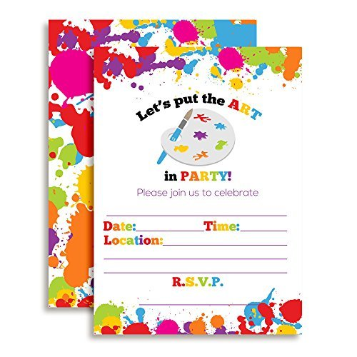 Art & Painting Birthday Party Invitations