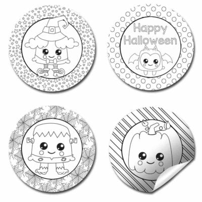 Color Your Own Halloween Stickers