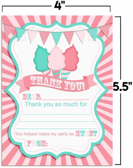 Cotton Candy Thank You Cards