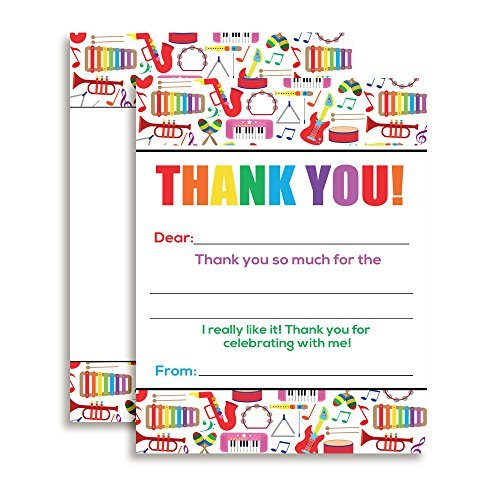 Dance & Play Music Thank You Notes