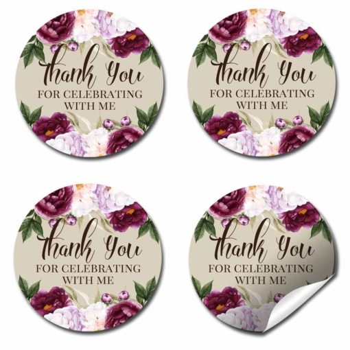Violet & Lilac Floral Stickers