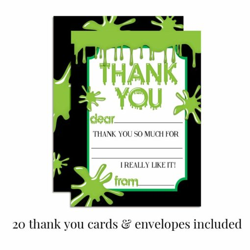 Green Slime Thank You Cards