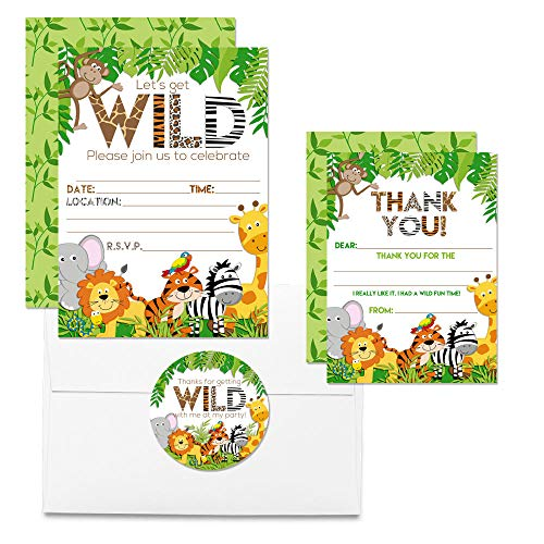 Jungle Animal Birthday Party Bundle