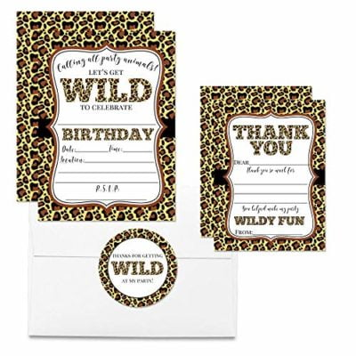 Wild Leopard Thank You Cards