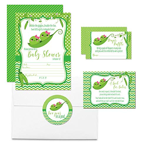 Two Peas In A Pod Baby Shower Party Bundle (Twin Girls)