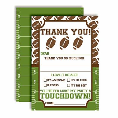 Football Touchdown Thank You Cards