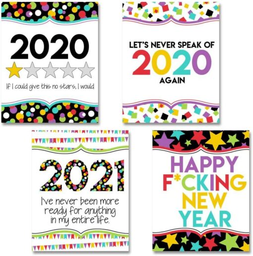Glad 2020 Is Over Happy New Year 2021 Wine Bottle Labels
