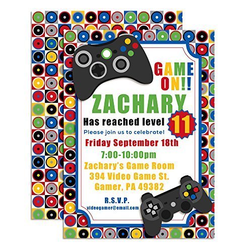 Game On Video Gamer Themed Custom Personalized Birthday Party