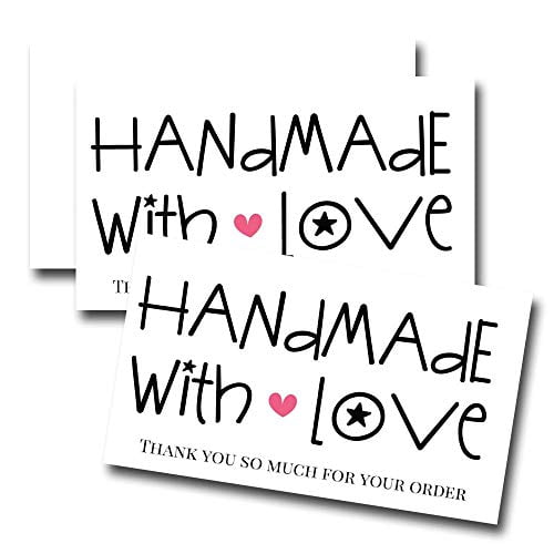 Handmade with Love Thank You Customer Appreciation Package Inserts for Small Businesses