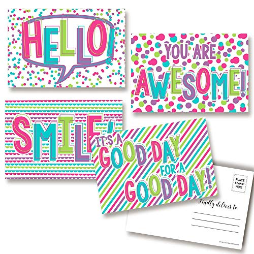 It's A Great Day! Pink & Purple Postcards
