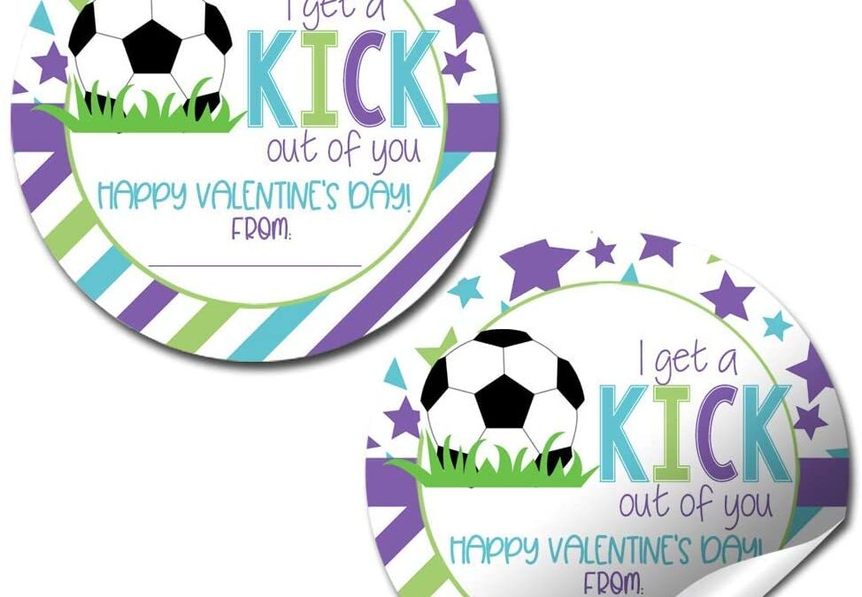 Kick Out Of You Soccer Valentine Stickers