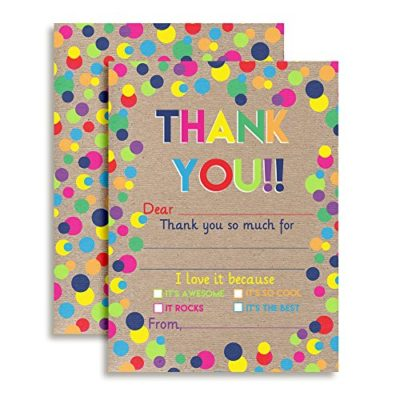Kraft Polka Dot Thank You Cards