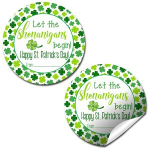 Let the Shenanigans Begin St. Patrick's Day Stickers
