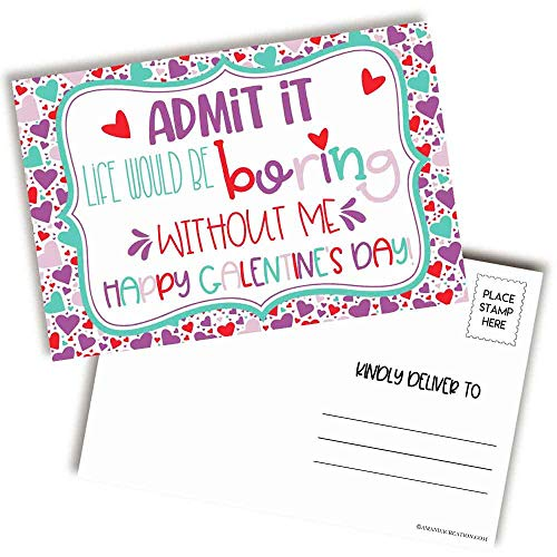 Galentine Valentine's Day Postcards