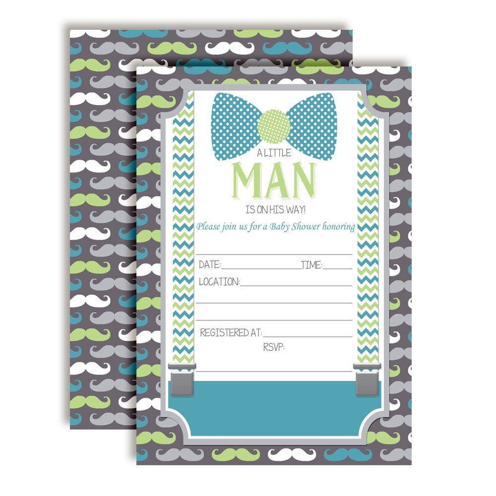 Baby Shower Invitations For Boys Design The Best For The Special Little Man Bow Tie, Mustaches u0026 Suspenders Baby Shower Invitations for Boys  ...