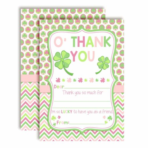 Lucky Lass St. Patrick's Day Thank You Cards