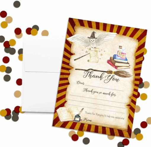 Magical Wizard School Thank You Cards
