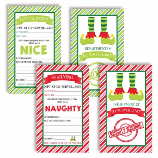 naughty & nice elf notes