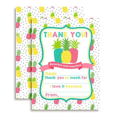 Pineapple Thank You Cards