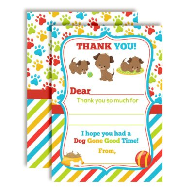 Puppy Dog Thank You Cards