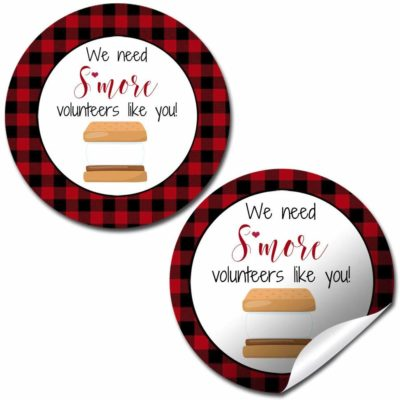 S'More Volunteer Appreciation Stickers