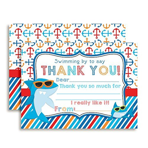 Shark in Sunglasses Thank You Cards