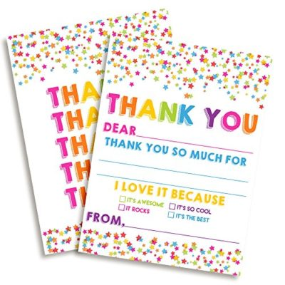 Star Confetti Thank You Cards