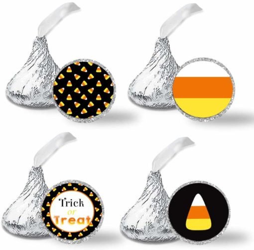 candy corn halloween kiss stickers